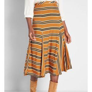 Midi Striped Skirt